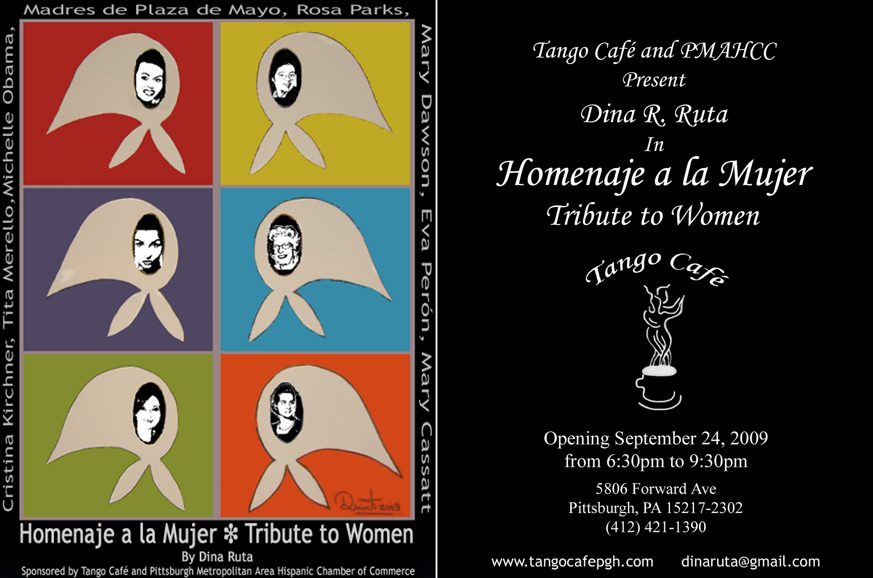 Tribute to Women, an ongoing exhibit at the Tango Café